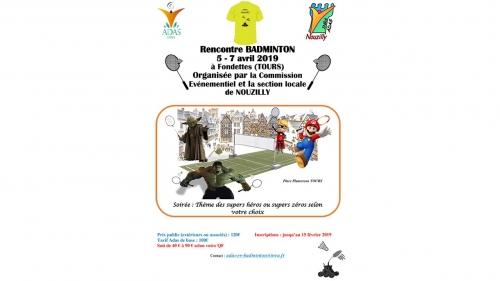 Rencontre Badminton à nouzilly