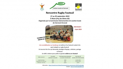 WE Rugby Fauteuil