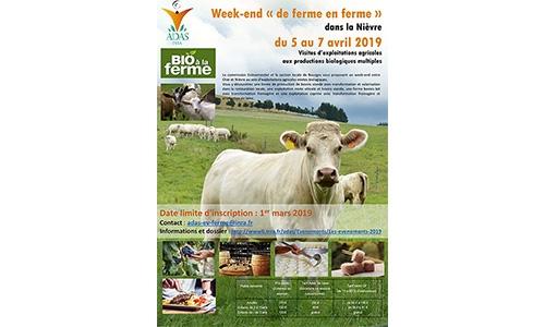 Week-end de ferme en ferme dans la Nièvre