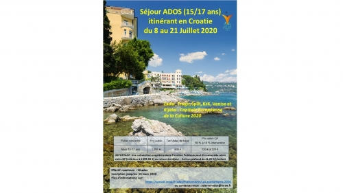 Séjour Ados Croatie