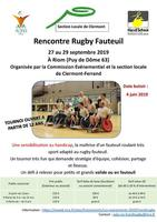 Affiche Rencontre Rugby Fauteuil
