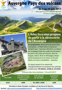 Affiche séjour Auvergne