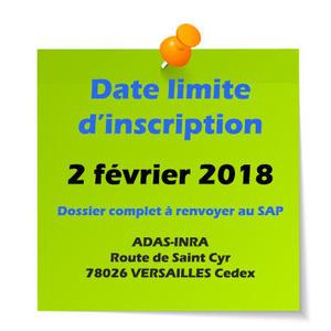 Date butoir 2 février 2018