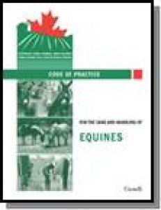 NFACC: Code of Practice for the Care and Handling of Equines - 2013