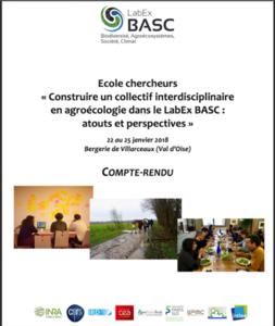 Cover CR Ecole chercheurs agroécologie