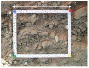 Une figure de la publi - Soil surface roughness measurement: A new fully automatic photogrammetric approach applied to agricultural bare fields