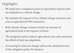 Climate-induced Land Use Change in France: Impacts of Agricultural Adaptation and Climate Change Mitigation - publi STIMUL