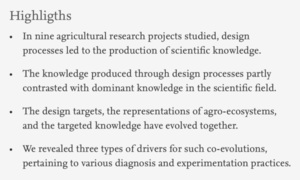 Design as a source of renewal in the production of scientific knowledge in crop science - Publi INDISS