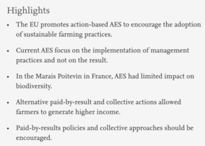 Highlights de Public policy design: Assessing the potential of new collective Agri-Environmental Schemes in the Marais Poitevin wetland region usin...