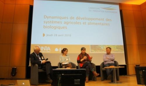 Discussion avec la salle lors du CIAg Systèmes agricoles et alimentaires biologiques