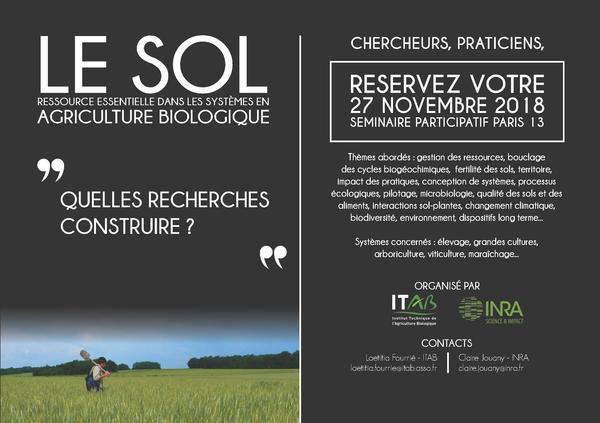Seminaire Sol Inra-Itab