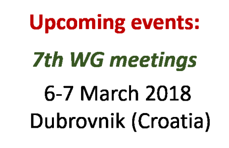 Upcoming events (2018)