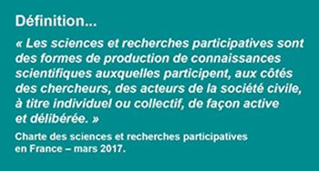 Définition des sciences et recherches participatives