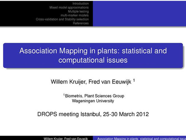 01-Association mapping in plants