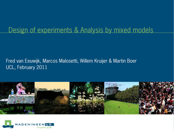 Design of experiments & analysis