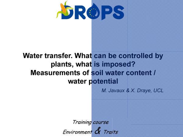 Water transfert