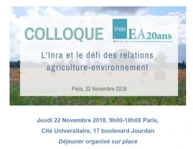 Participer au colloque : l'Inra et le défi des relations agriculture-environnement