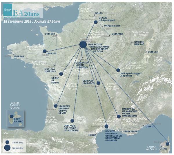 Carte des sites interconnectés