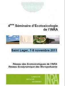 Actes du 4ème Séminaire d'Ecotoxicologie