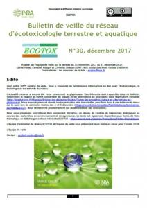 Bulletin 30 : Veille du 11/11/2017 au 31/12/2017