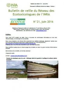 Bulletin 21 : Veille du 01/05/2016 au 30/06/2016