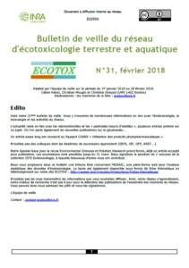 Bulletin 31 : Veille du 01/01/2018 au 28/02/2018