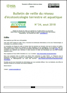 Bulletin 34 : Veille du 01/07/2018 au 31/08/2018