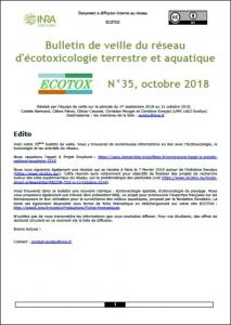 Bulletin 35 : Veille du 01/09/2018 au 31/10/2018