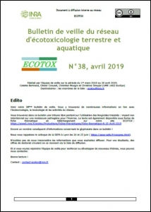 Bulletin 38 : Veille du 01/03/2019 au 30/04/2019