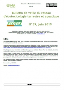 Bulletin 39 : Veille du 01/05/2019 au 30/06/2019