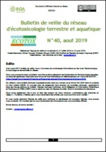 Bulletin 40 : Veille du 01/07/2019 au 31/08/2019