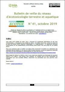 Bulletin 41 : Veille du 01/09/2019 au 31/10/2019