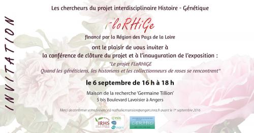 Conférence de clôture du projet FloRHiGe