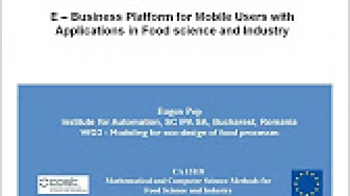 05 - E-Business Platform for Food Science and Industry (Eugen Pop)
