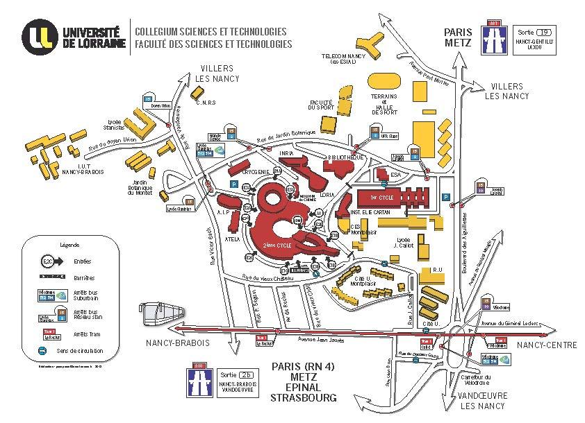 Plan d'accès FST