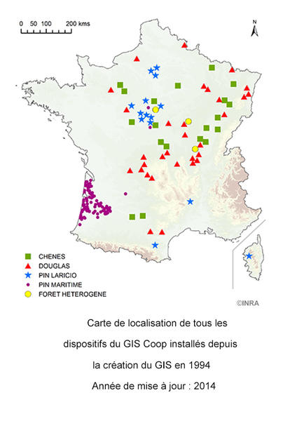 carte de localisation des dispositifs GIS Coop