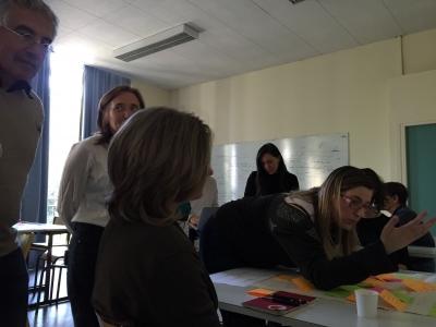 exploration en sous groupe lors d'un atelier KCP