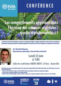 Les comportement végétaux dans l'histoire des sciences végétales : quelle(s) philosophie(s) ?