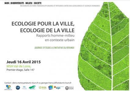 affiche journée etudes ecologie ville