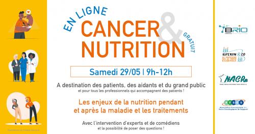 Evenement Cancer et Nutrition patient grand public 29 mai 2021