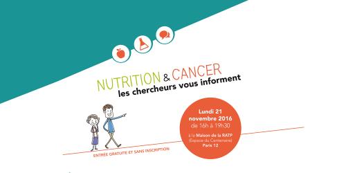 NACRe evement grand public cancer nutrition chercheurs