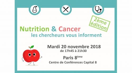 evenement grand public 2018 nutrition cancer les chercheurs vous informent