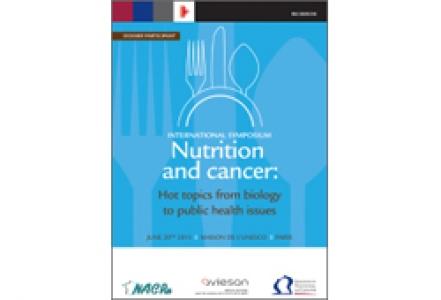 Symposium international « Nutrition et cancer »  INCa - Aviesan - NACRe 2013