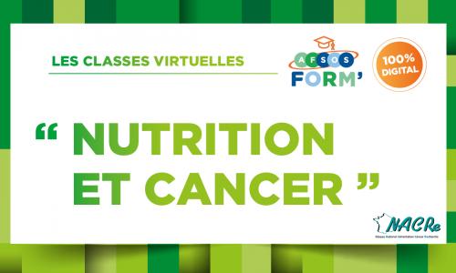 Formation NACRe AFSOS nutrition cancer juin 2021