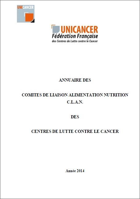 Annuaire des Comités de Liaison Alimentation Nutrition (CLAN)
