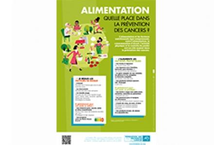 Affiche Fondation ARC « Alimentation. Quelle place dans la prévention des cancers ? » 2020