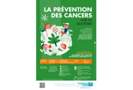 """Affiche """"La prévention des cancers. Agir au quotidien"""" 2016"""