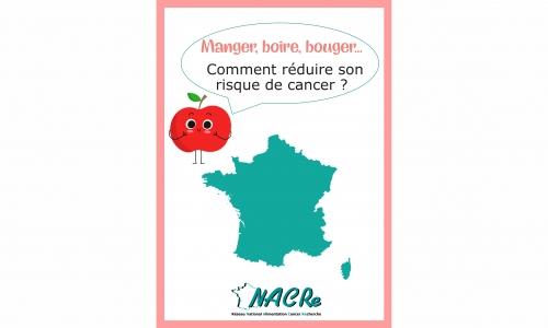 Dépliant Réseau NACRe « Manger, boire, bouger : comment réduire son risque de cancer ? » 2018