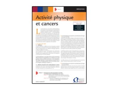 Fiche repère activité physique et cancers, INCa