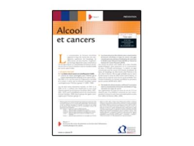 Fiche repère alcool et cancers, INCa